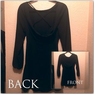 Almost Famous black backless dress